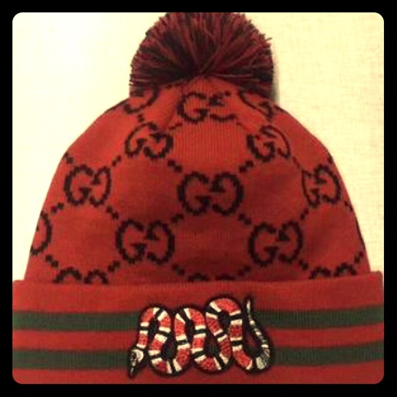 ae990eb9 Gucci Accessories | 2018 Red Beanie With Serpent Patch | Poshmark